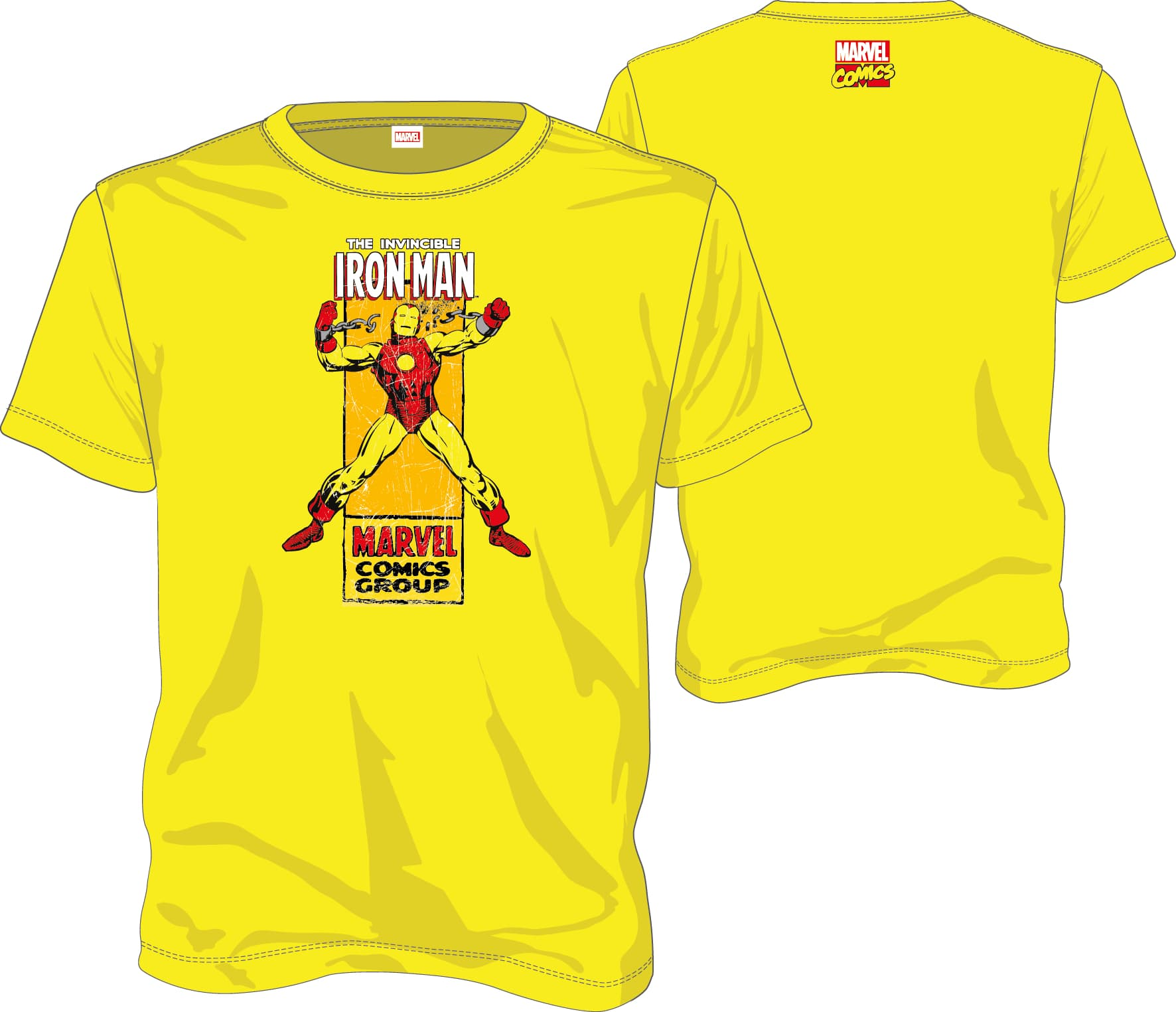 IRON MAN CAMISETA AMARILLA CHICO T-L MARVEL COMICS