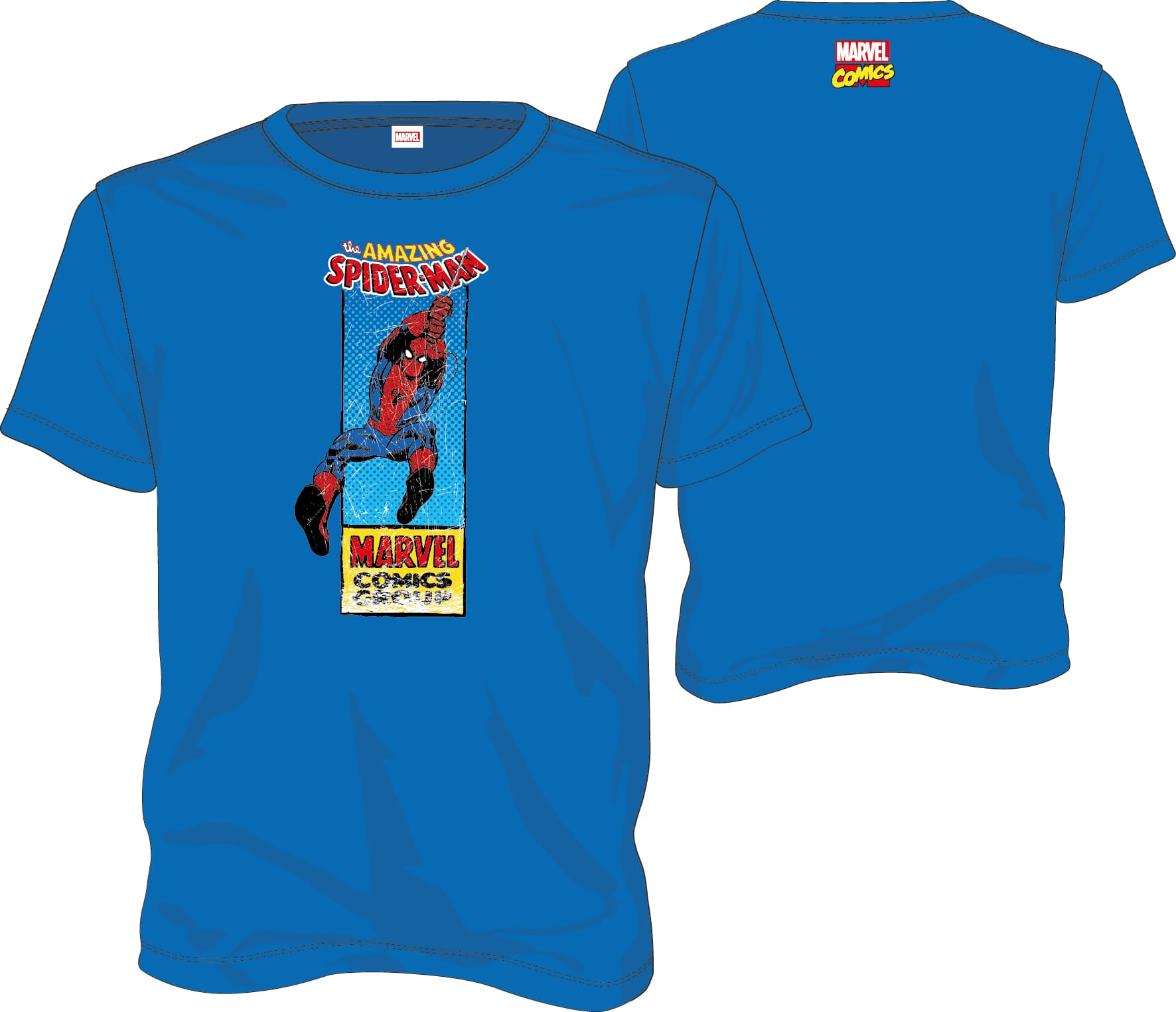 SPIDERMAN CAMISETA AZUL VHS CHICO T-L MARVEL COMICS