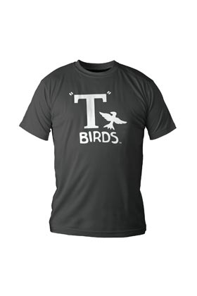 LOGO T-BIRDS CAMISETA NEGRA CHICO T-S GREASE