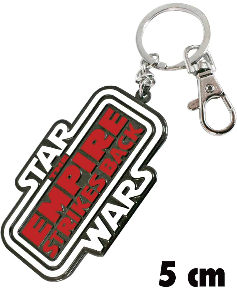 LOGO THE EMPIRE STRIKES BACK LLAVERO MOSQUETON 5 CM STAR WARS