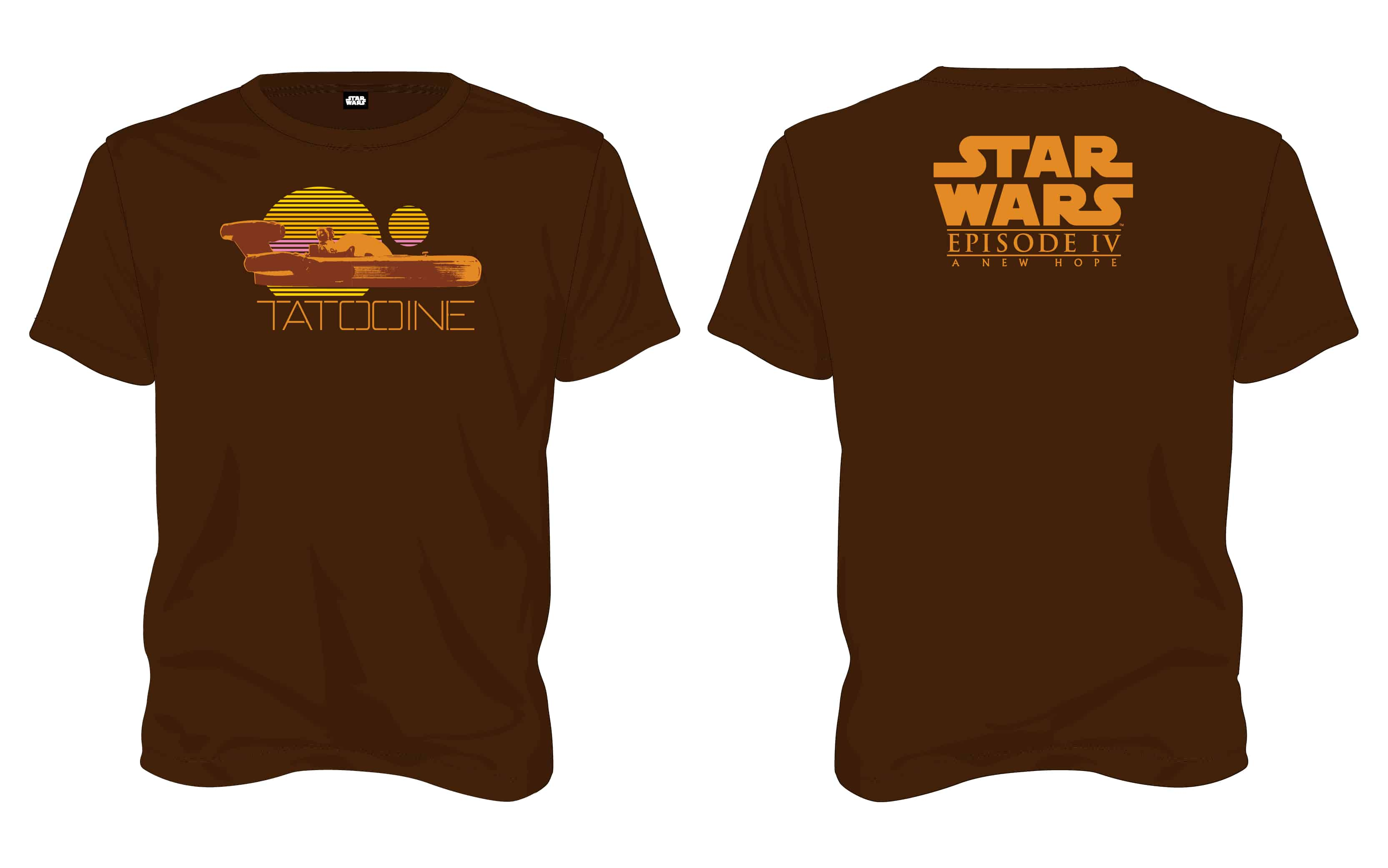 TATOOINE CAMISETA MARRON CHICO T-L STAR WARS