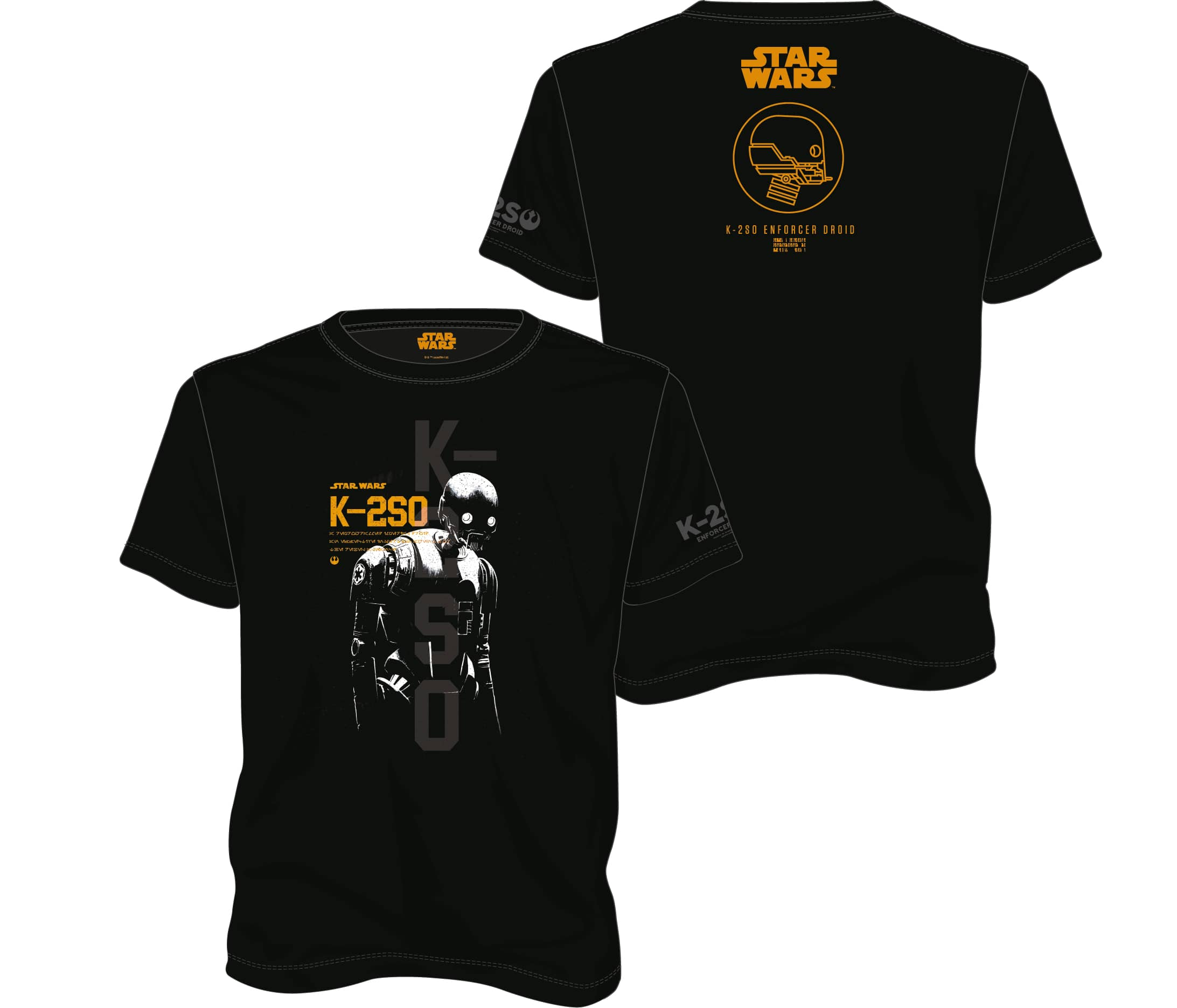K-2S0 CAMISETA NEGRA CHICO T-XXL STAR WARS ROGUE ONE