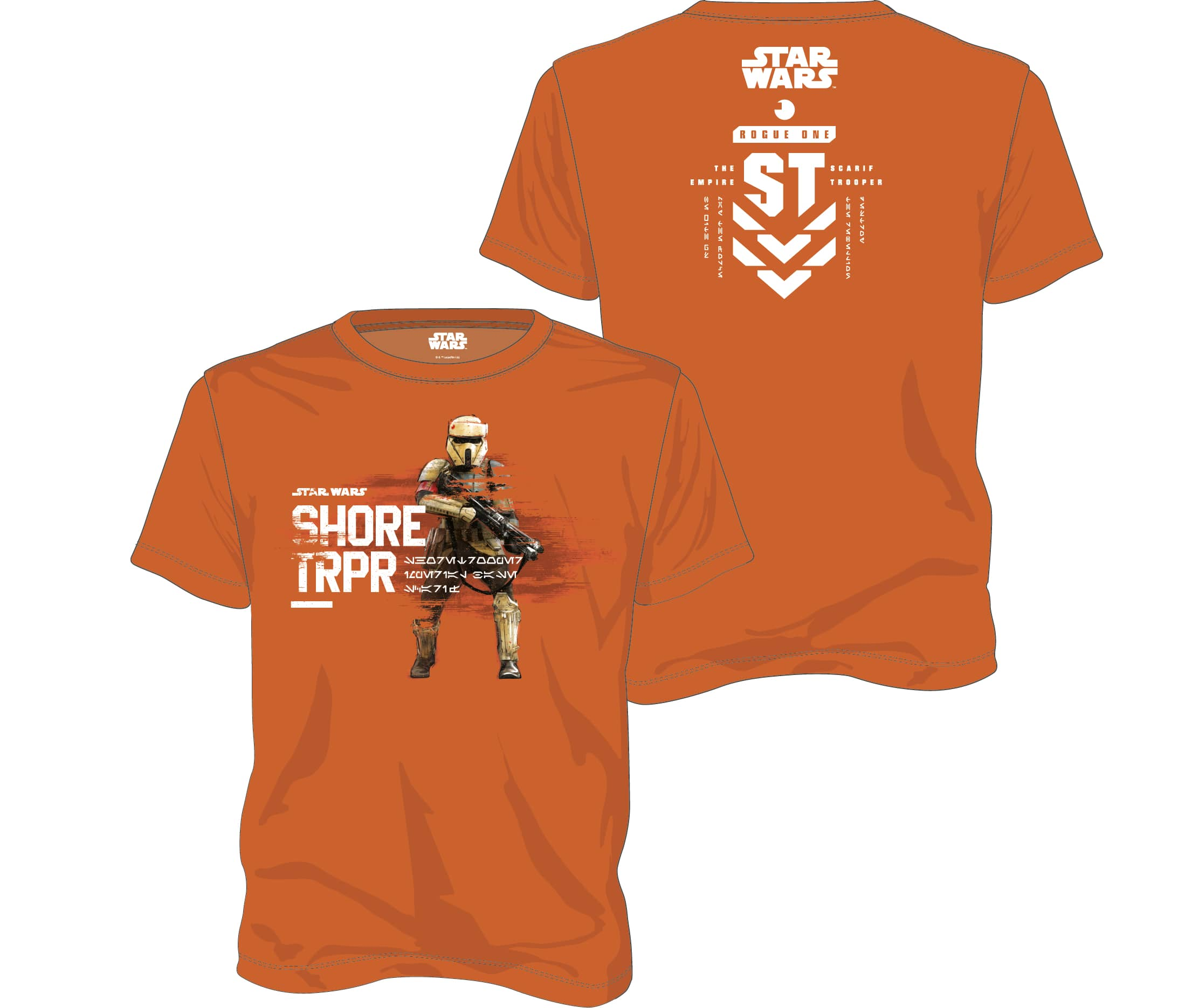 SHORE TROOPER CAMISETA NARANJA CHICO T-XXL STAR WARS ROGUE ONE