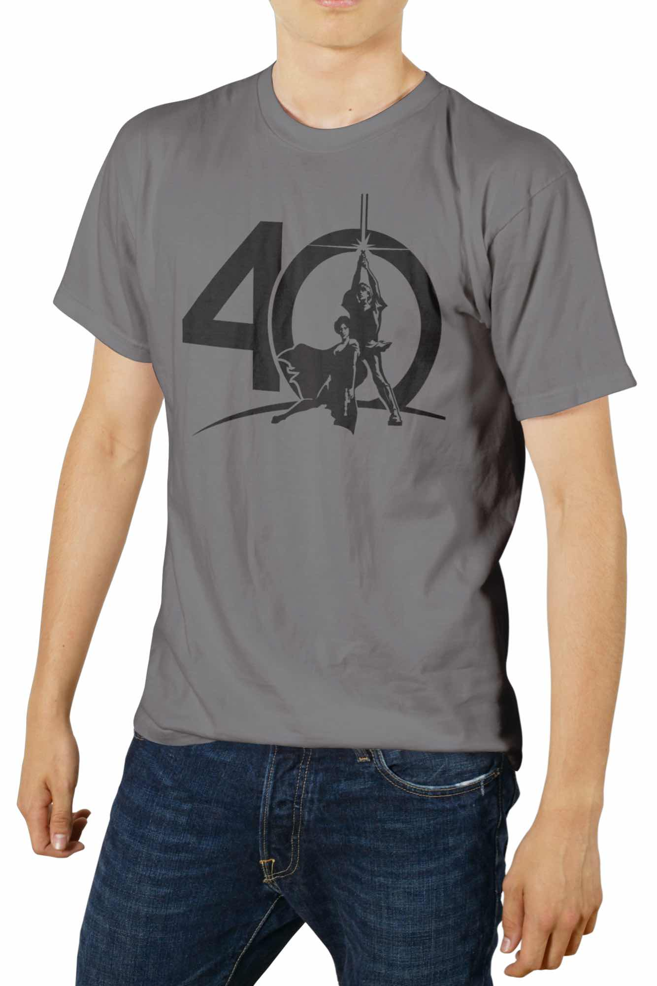 O.FLASH - 40 ANIVERSARIO CAMISETA GRIS VHS CHICO T-XL STAR WARS