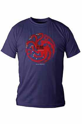 FIRE AND BLOOD TARGARYEN CAMISETA CHICO T-L GAME OF THRONES