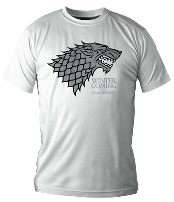 WINTER IS COMING STARK CAMISETA BLANCA CHICO T-L GAME OF THRONES
