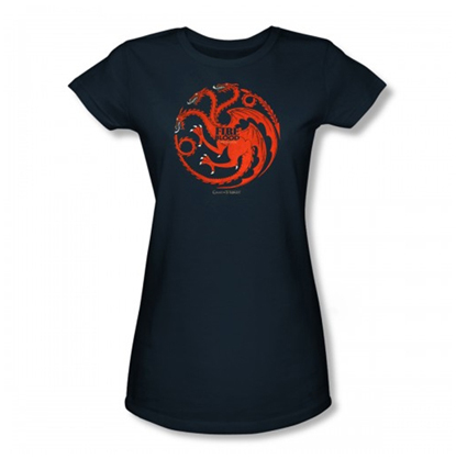 FIRE AND BLOOD TARGARYEN CAMISETA CHICA T-L GAME OF THRONES