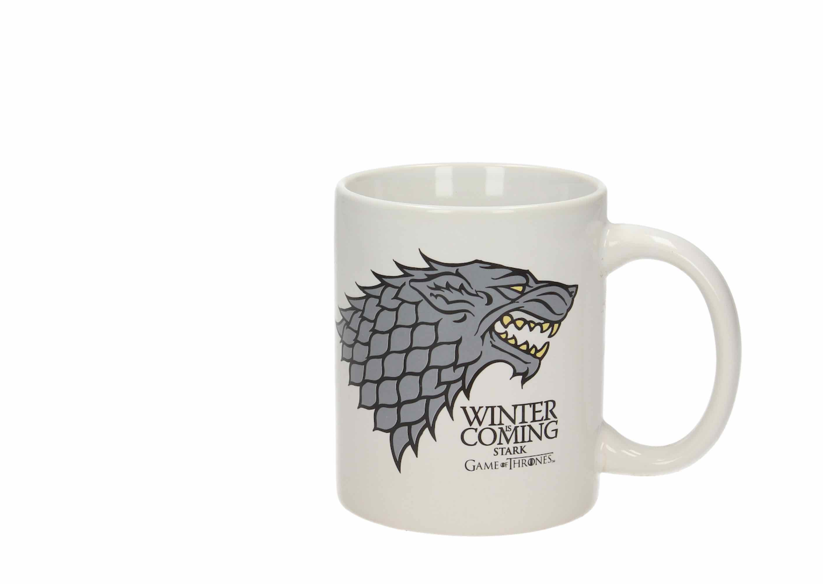 WINTER IS COMING STARK TAZA CERAMICA GAME OF THRONES