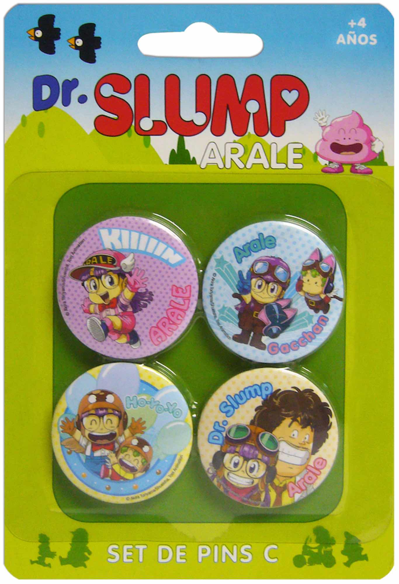 DR SLUMP PERSONAJES SET C DE 4 PINS DR SLUMP
