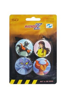 MAZINGER Z SET A DE 4 PINS MAZINGER Z