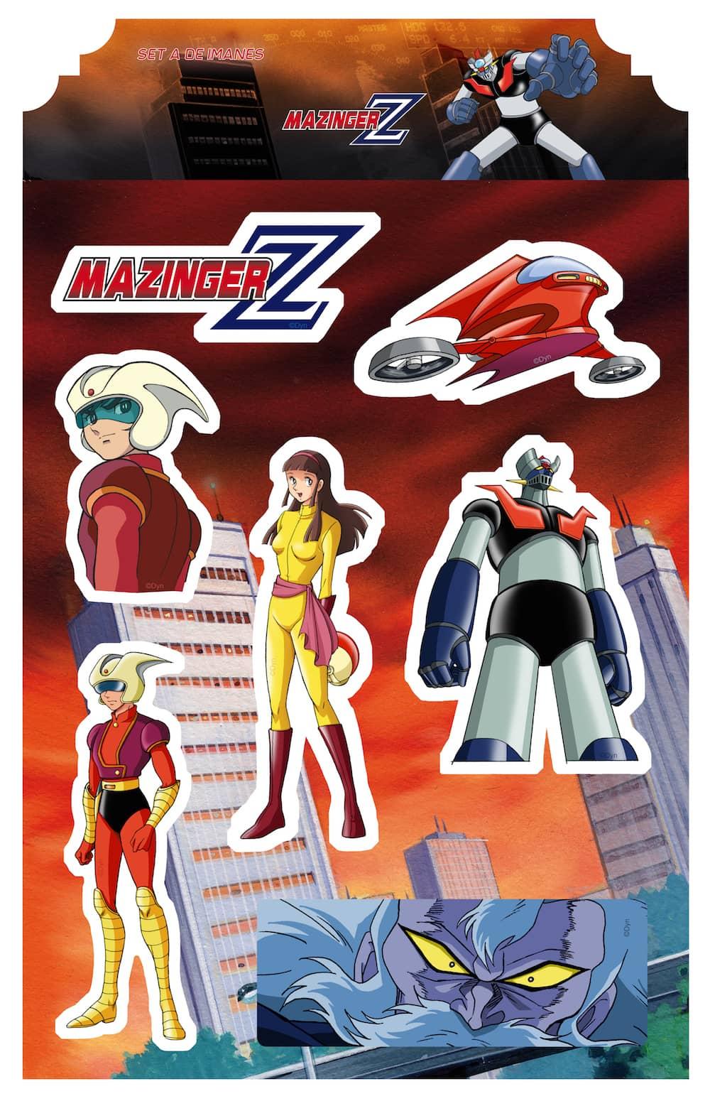 MAZINGER Z SET A IMANES MAZINGER Z