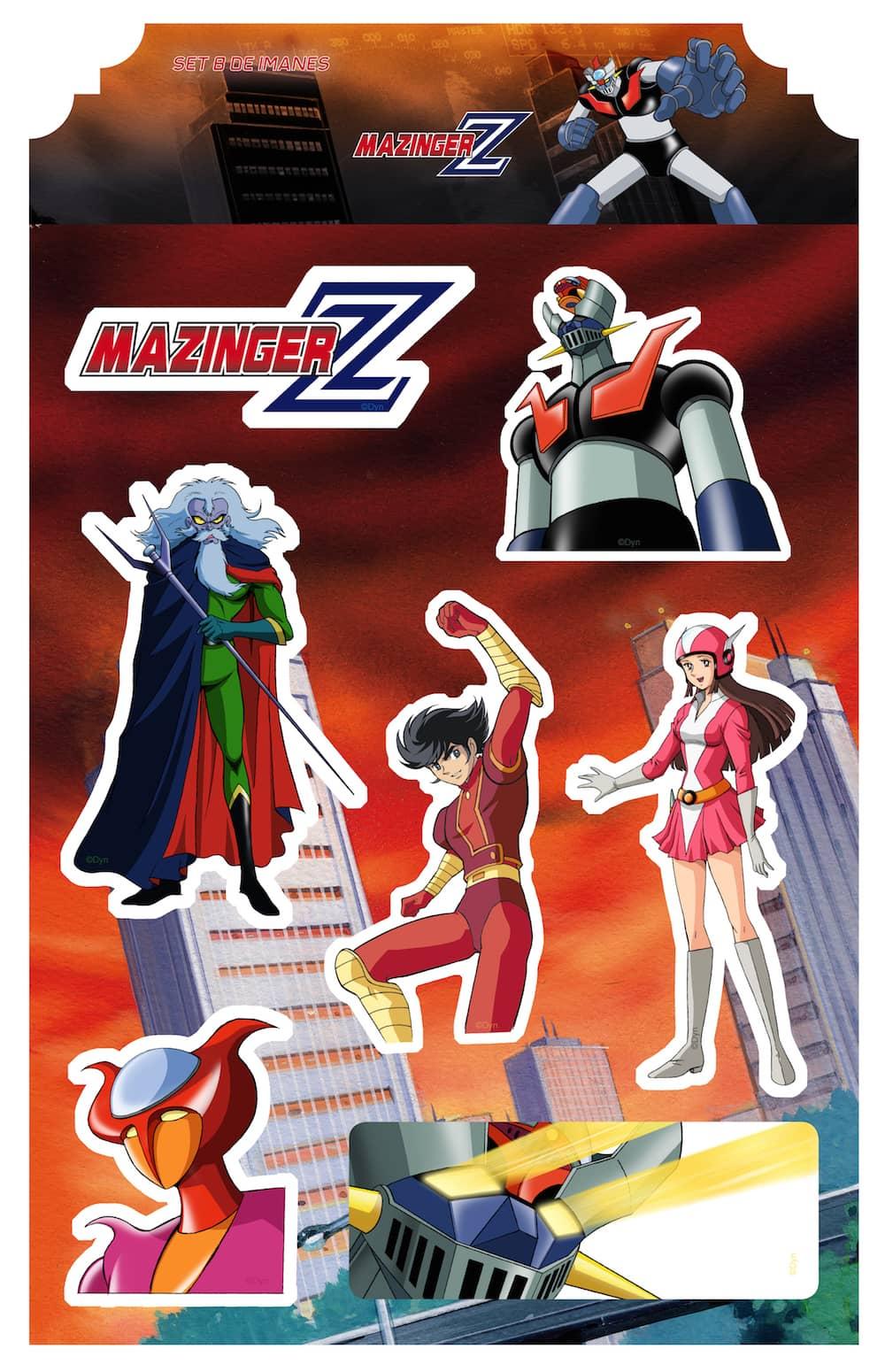 MAZINGER Z SET B IMANES MAZINGER Z