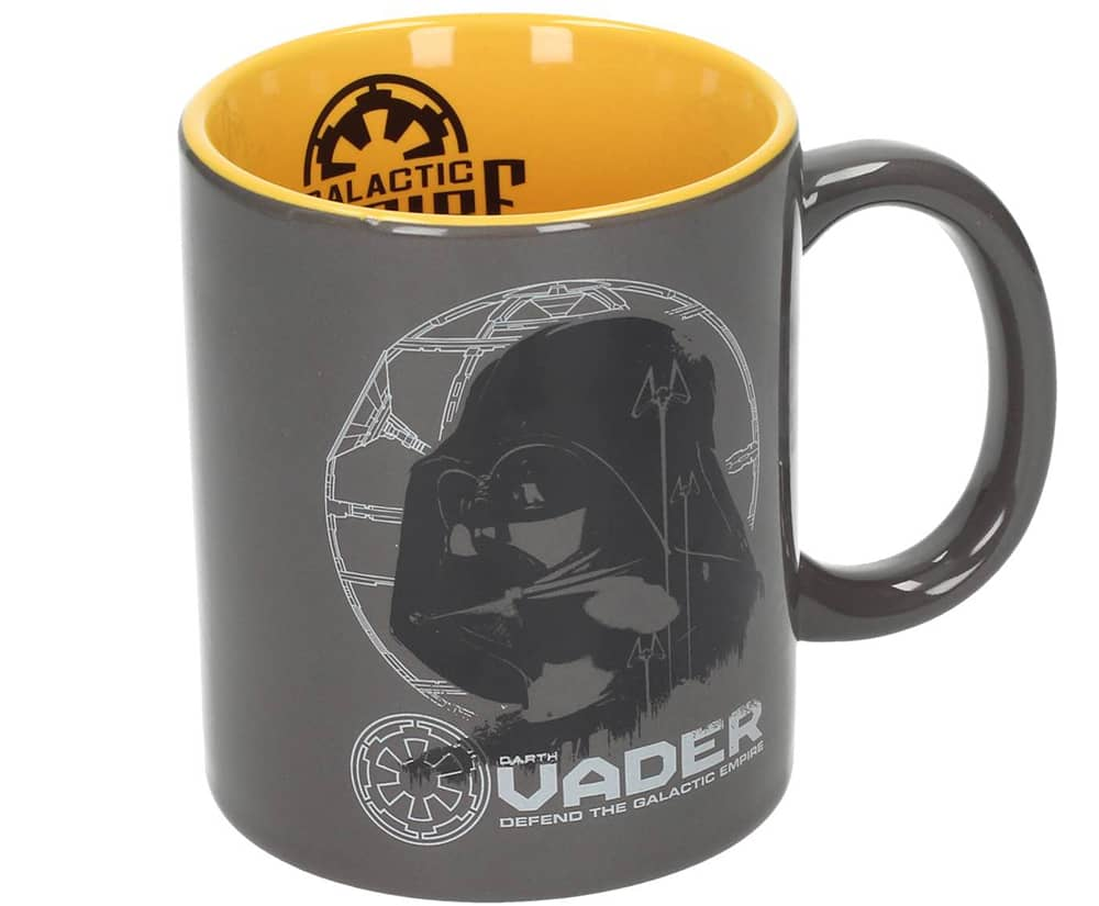 DARTH VADER TAZA GRIS-AMARILLA CERAMICA STAR WARS ROGUE ONE