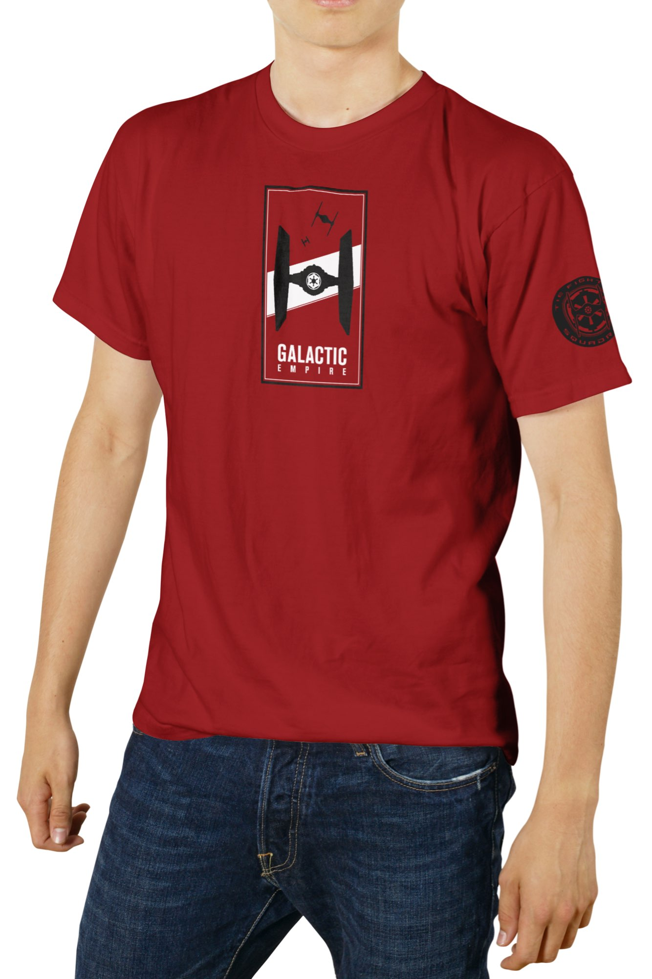 O.FLASH - GALACTIC EMPIRE CAMISETA ROJA CHICO T-XXL STAR WARS