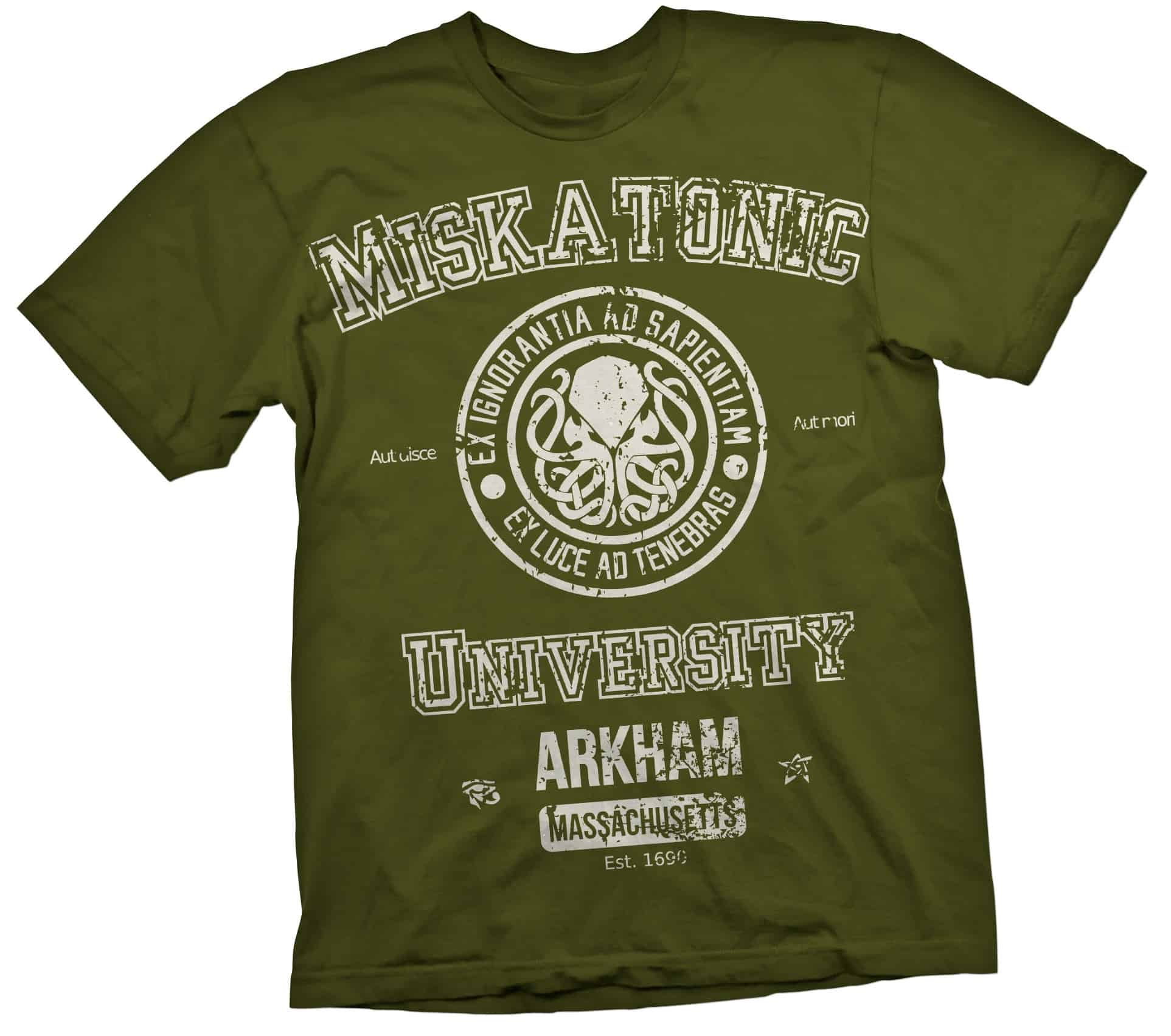 O.FLASH - MISKATONIC CAMISETA VERDE CHICO T-S CTHULHU