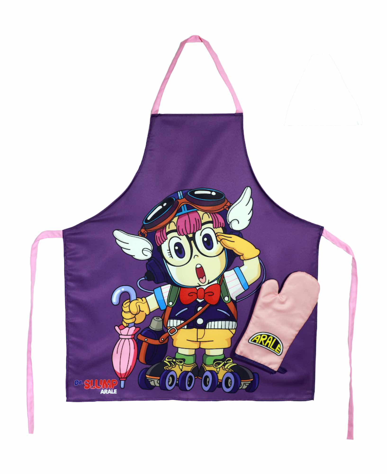 ARALE PATINES DELANTAL Y MANOPLA PACK TRANSPARENTE DR SLUMP