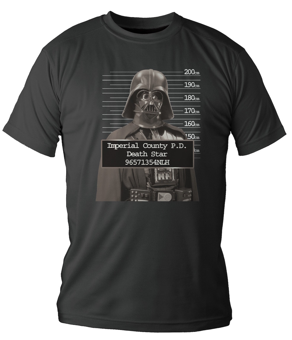 DARTH VADER FICHADO CAMISETA CHICO T-XL STAR WARS