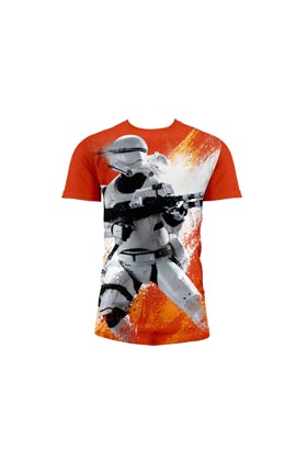 FLAMETROOPER CAMISETA FULL NARANJA CHICO T-M STAR WARS EP7