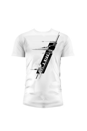X-WING CAMISETA BLANCA CHICO T-M STAR WARS EP7