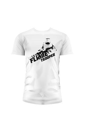 FLAMETROOPER CAMISETA BLANCA CHICO T-M STAR WARS EP7