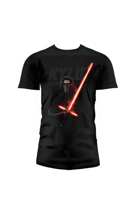 O.FLASH - KYLO SABLE CAMISETA NEGRA CHICO T-XL STAR WARS EP7