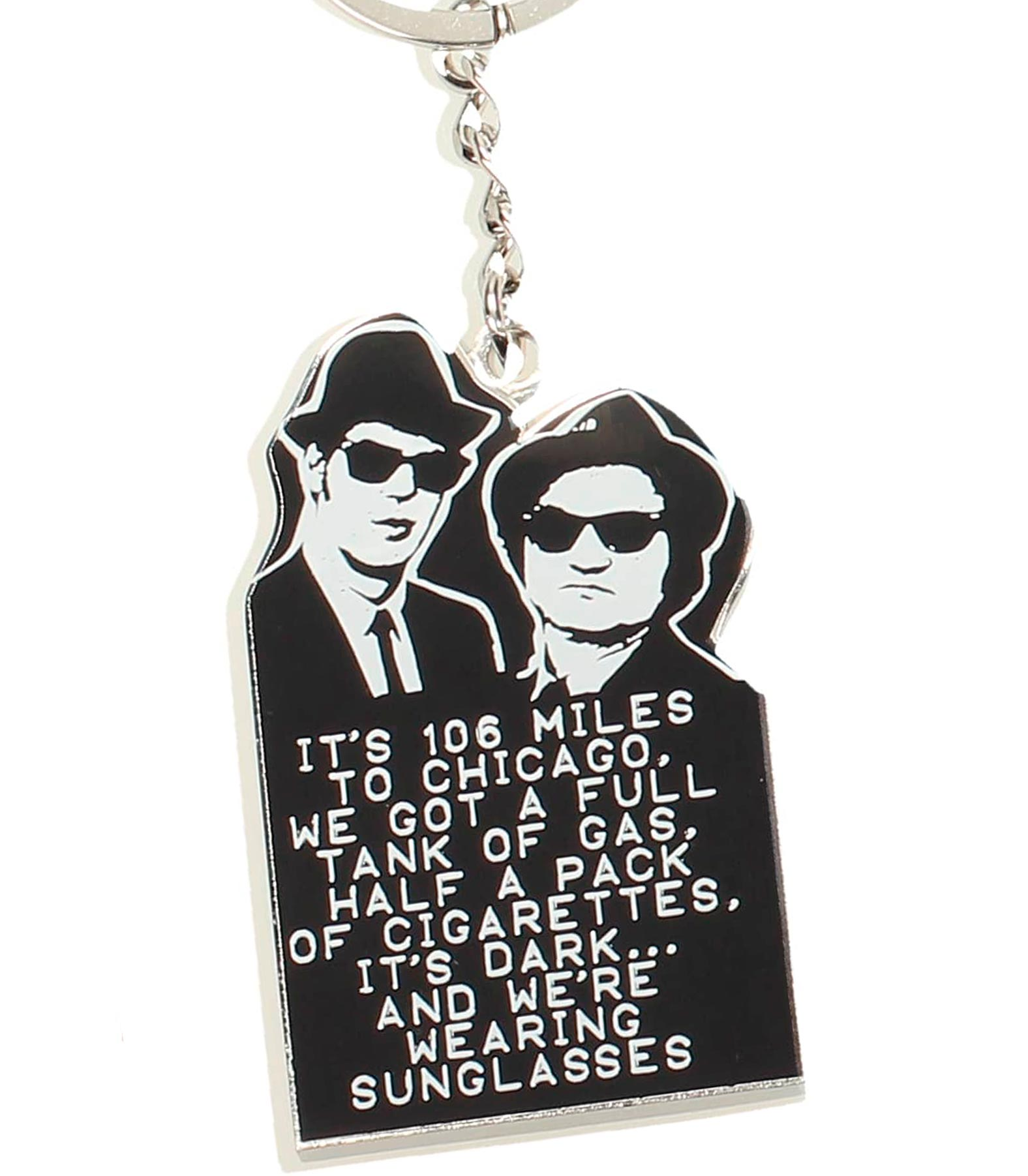 106 MILLAS LLAVERO METAL THE BLUES BROTHERS