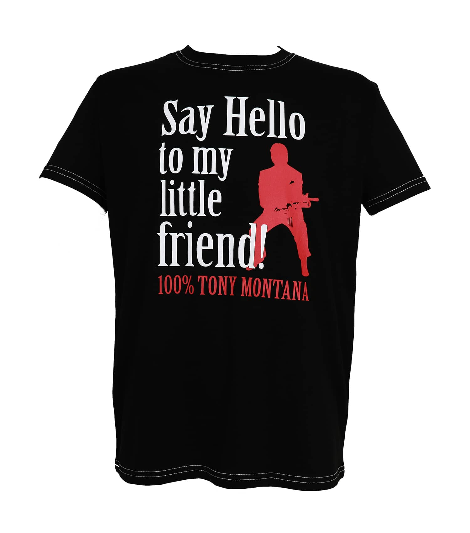 SAY HELLO CAMISETA NEGRA CHICO T-S SCARFACE