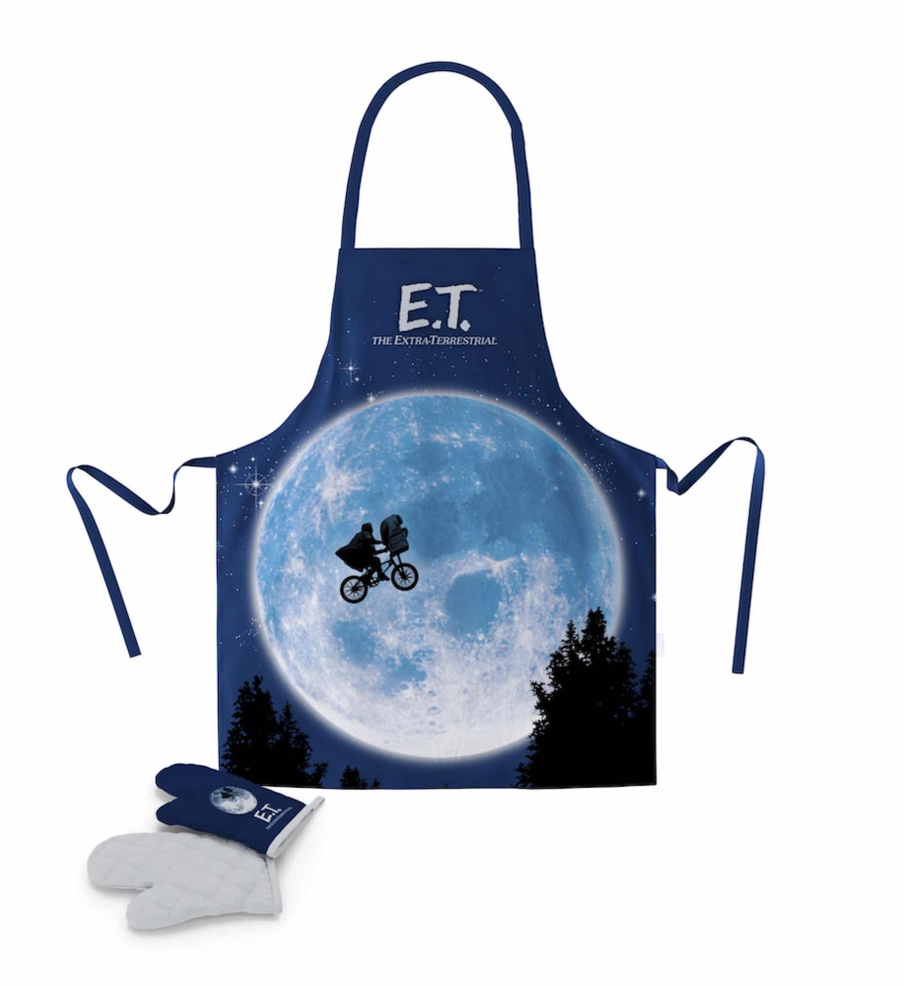 E.T. POSTER DELANTAL Y MANOPLA PACK TRANSPARENTE E.T.