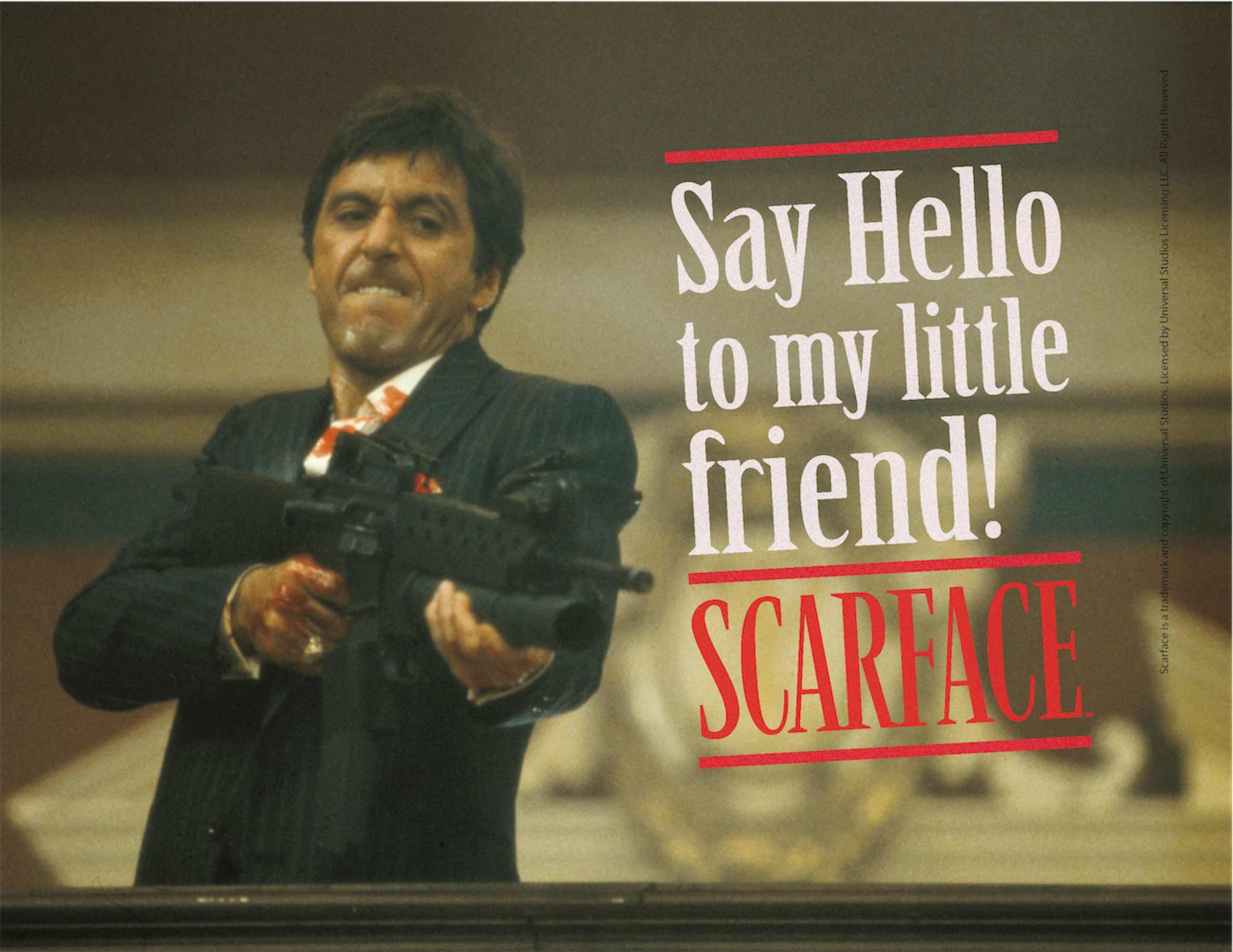 SAY HELLO POSTER DE VIDRIO SCARFACE 40x30 CM