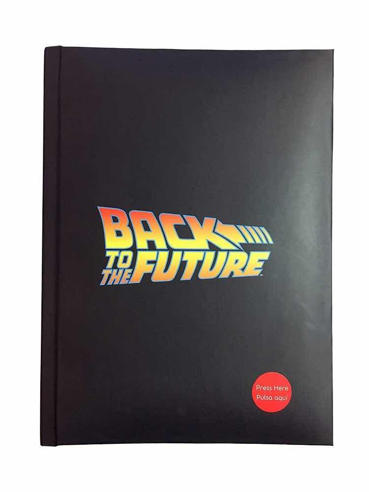 BACK TO THE FUTURE LOGO LIBRETA CON LUZ REGRESO AL FUTURO