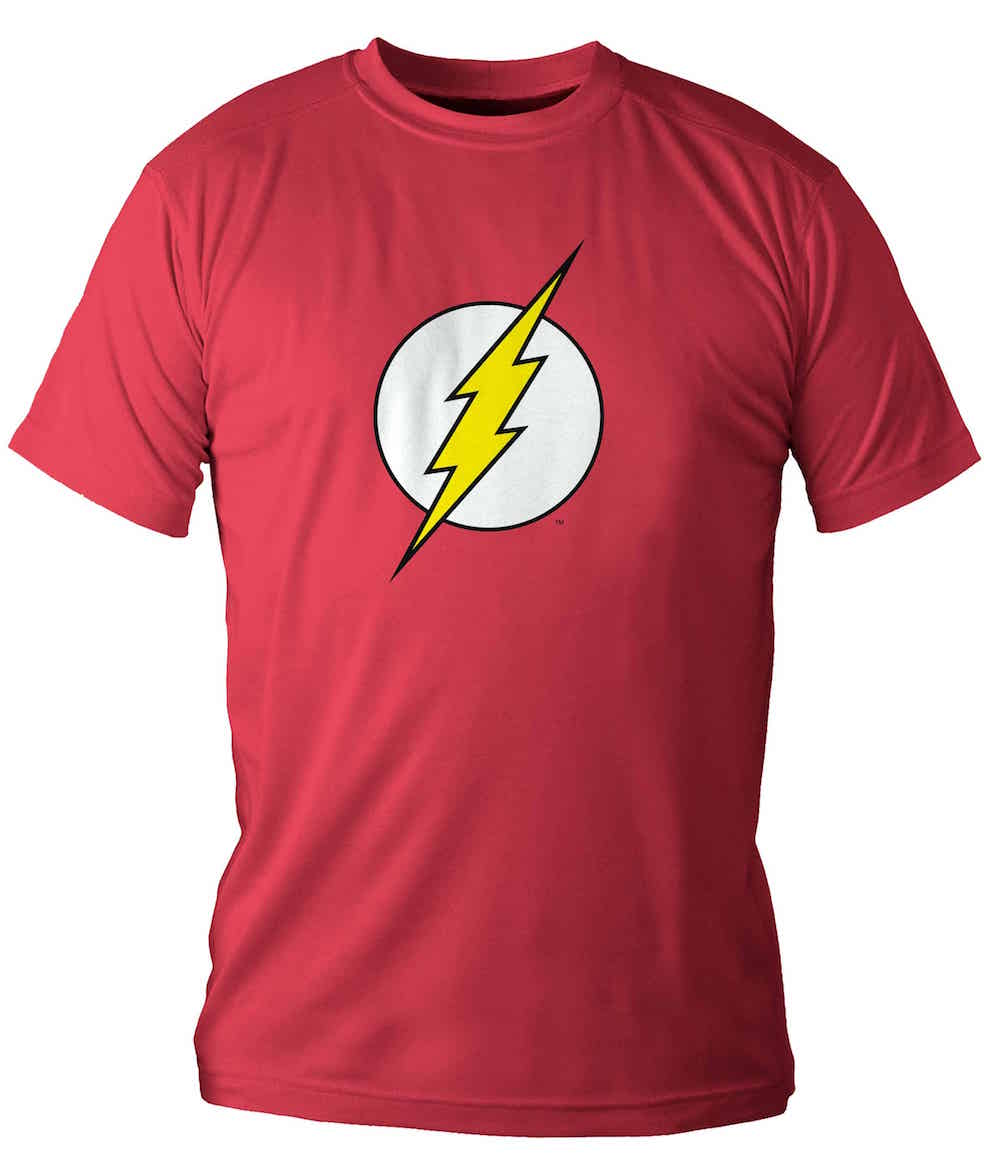 LOGO FLASH CAMISETA ROJA CHICO T-M DC COMICS