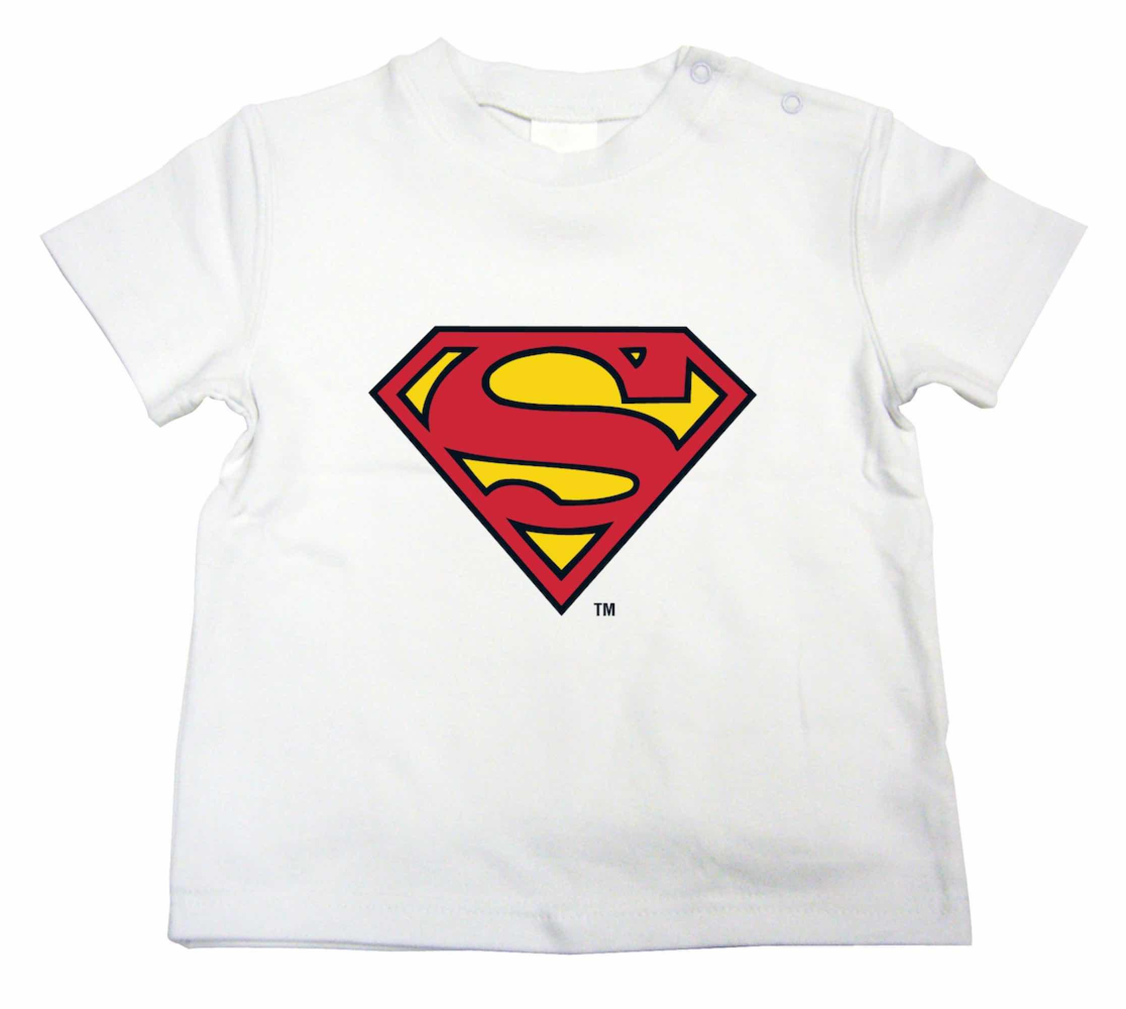LOGO SUPERMAN CAMISETA BLANCA NIÑO T-2 DC COMICS