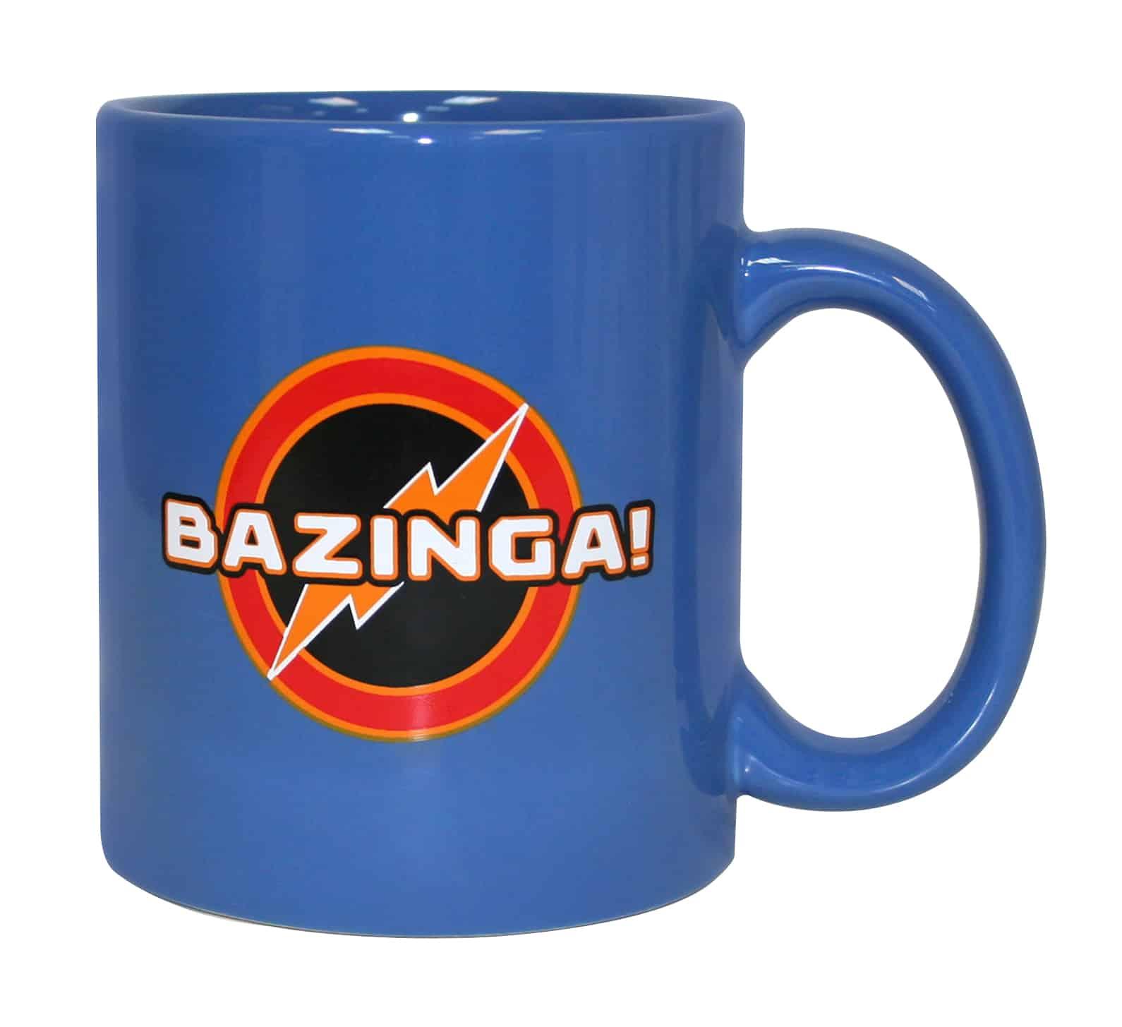 BAZINGA TAZA AZUL CERAMICA THE BIG BANG THEORY