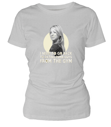 O.FLASH - PENNY FROM THE GYM CAMISETA GRIS CHICA T-M THE BIG BANG THEORY