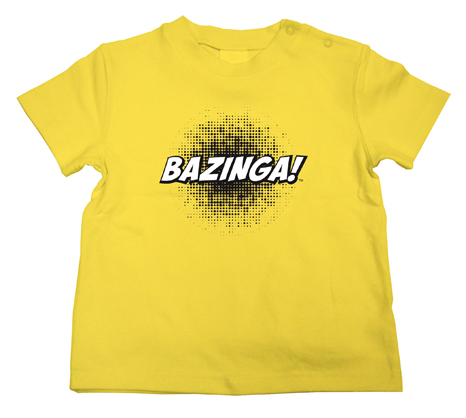 BAZINGA CAMISETA AMARILLA NIÑO T-2 THE BIG BANG THEORY