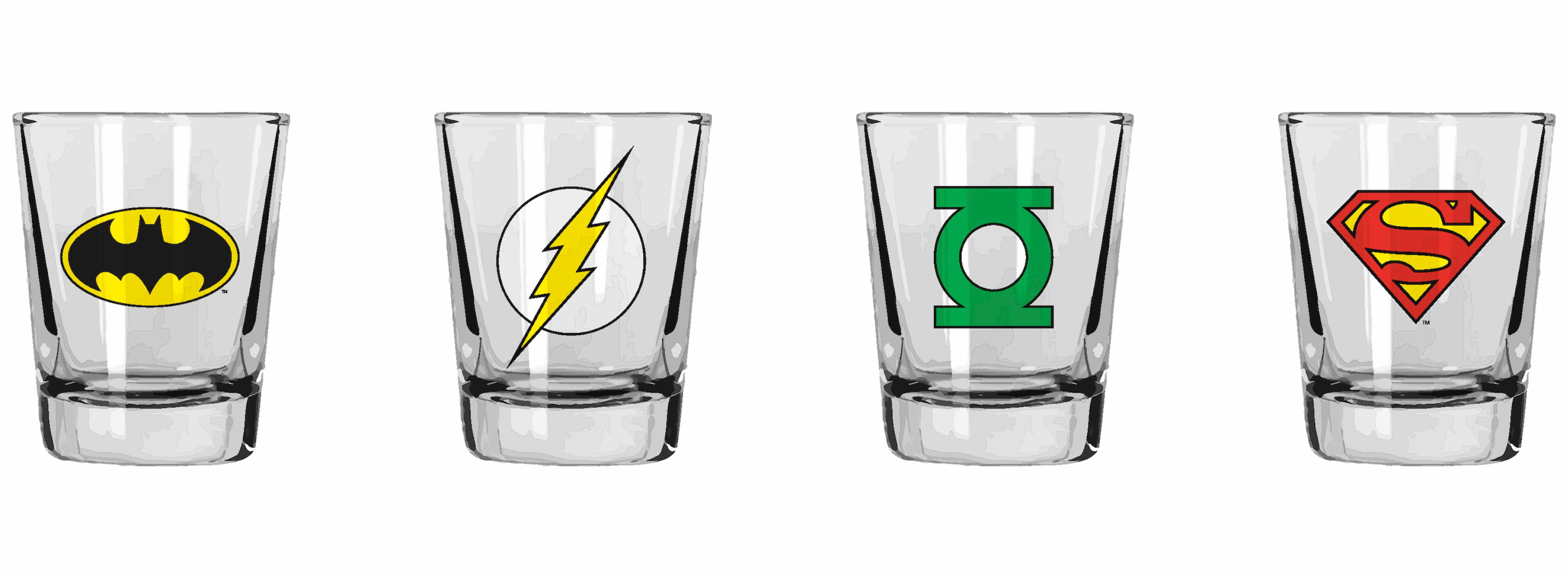 O.FLASH - SET 4 MINI VASOS LOGOS DC COMICS