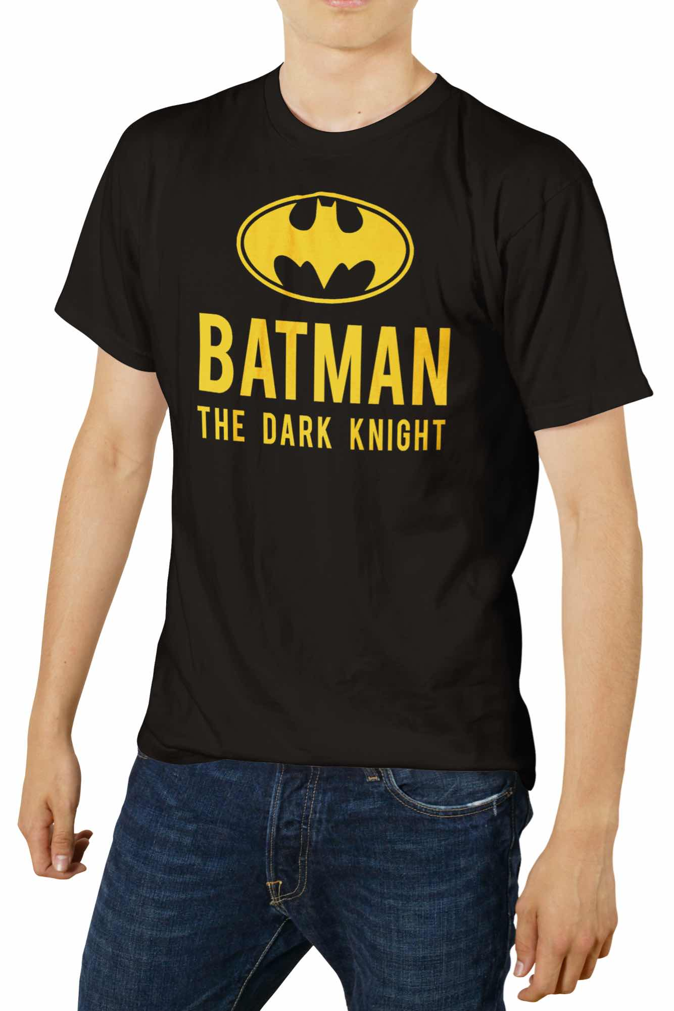 BATMAN THE DARK KNIGHT LOGO CAMISETA NEGRA CHICO T-M DC COMICS