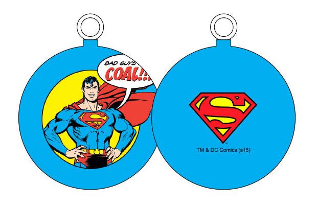SUPERMAN BAD GUYS BOLA NAVIDAD DC COMICS
