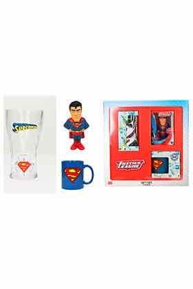 SET REGALO DC SUPERMAN (ANTIESTRES-TAZA-VASO REFRESCO)
