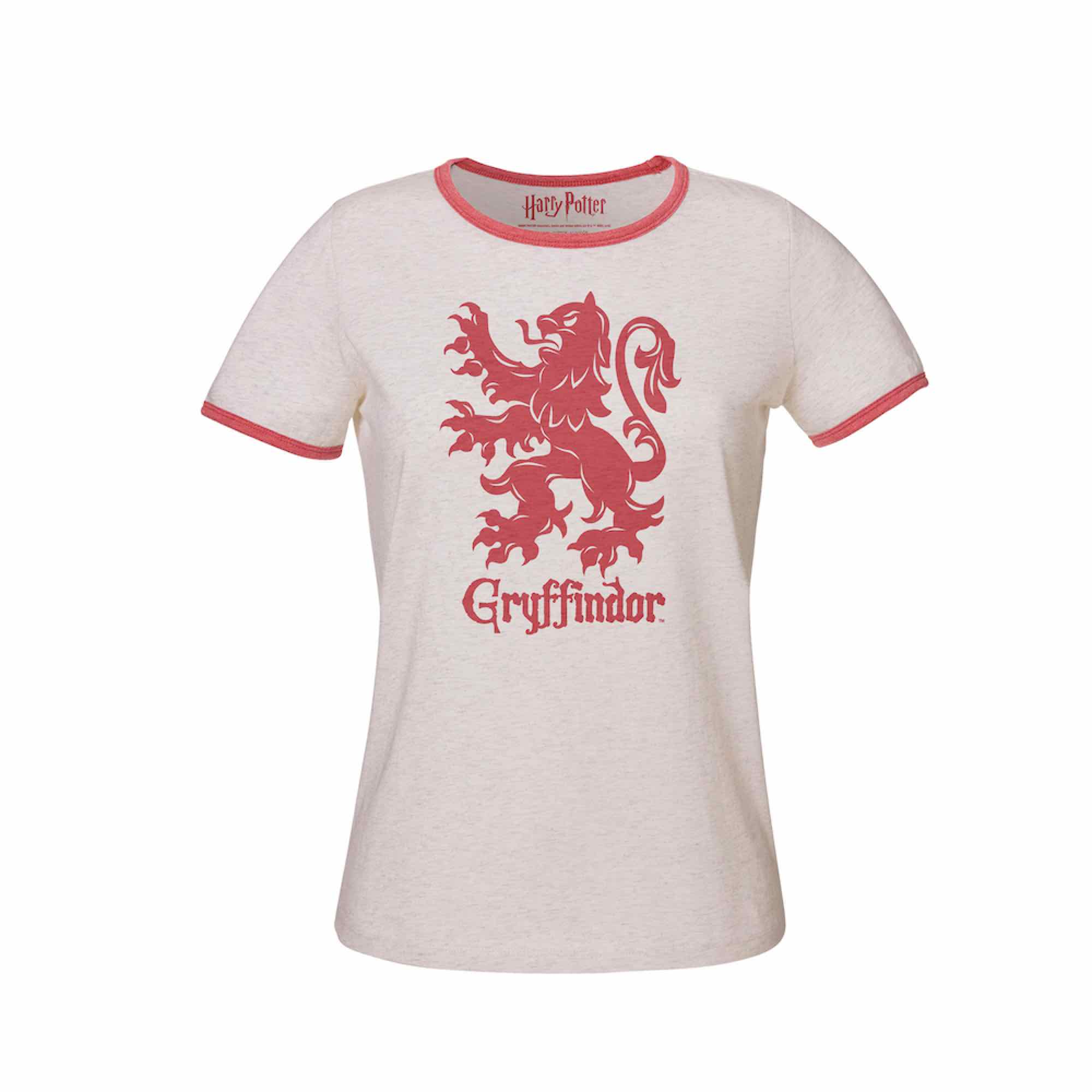 GRYFFINDOR T-L CAMISETA BLANCA CHICA HARRY POTTER
