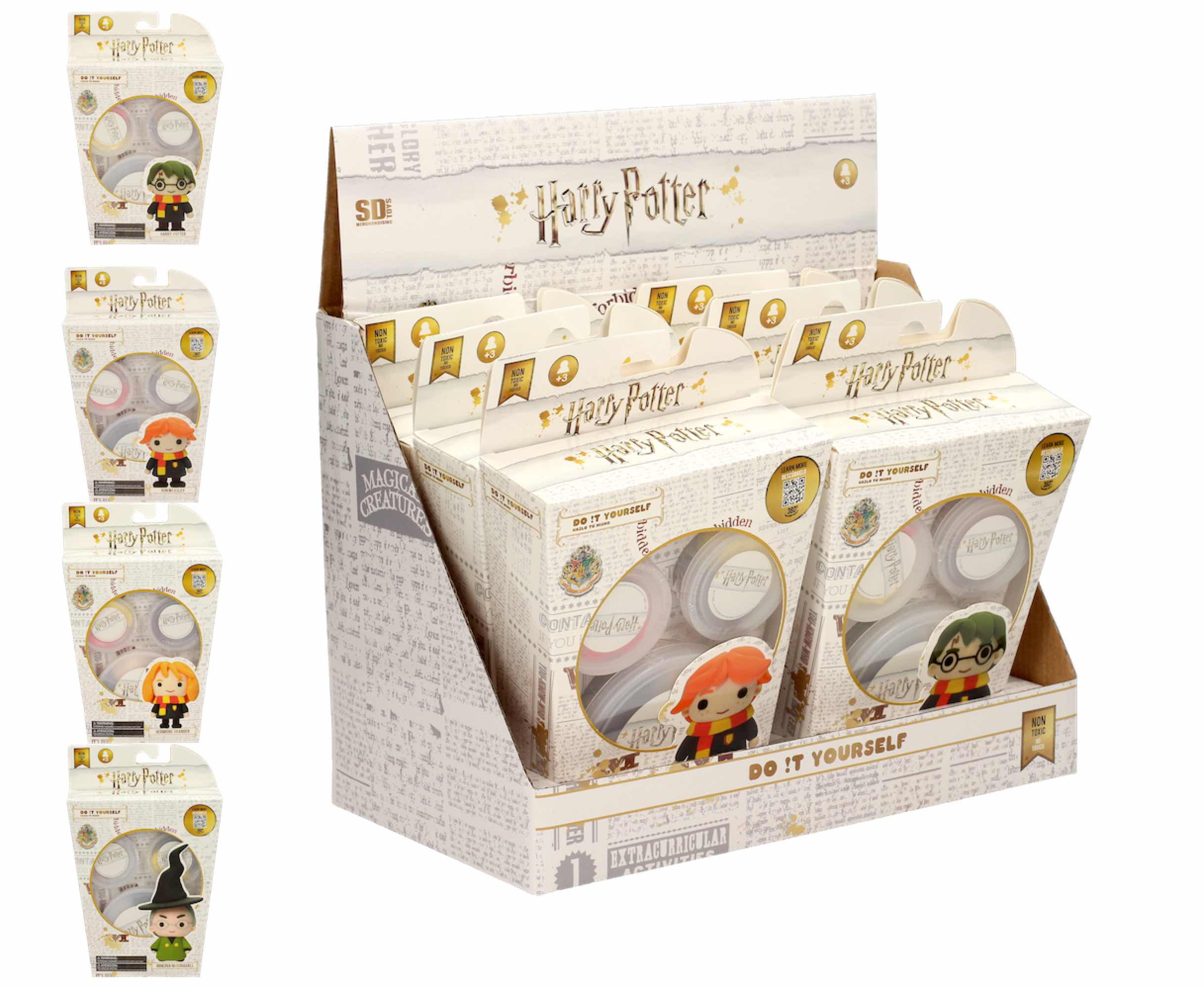 EXPOSITOR 6 UNIDADES SUPER DOUGH S1 HARRY POTTER- DO IT YOURSELF