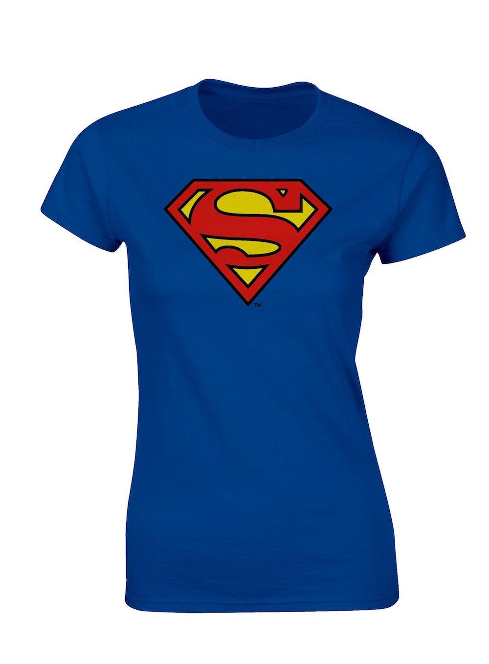 LOGO SUPERMAN CAMISETA AZUL CHICA T-XL DC COMICS