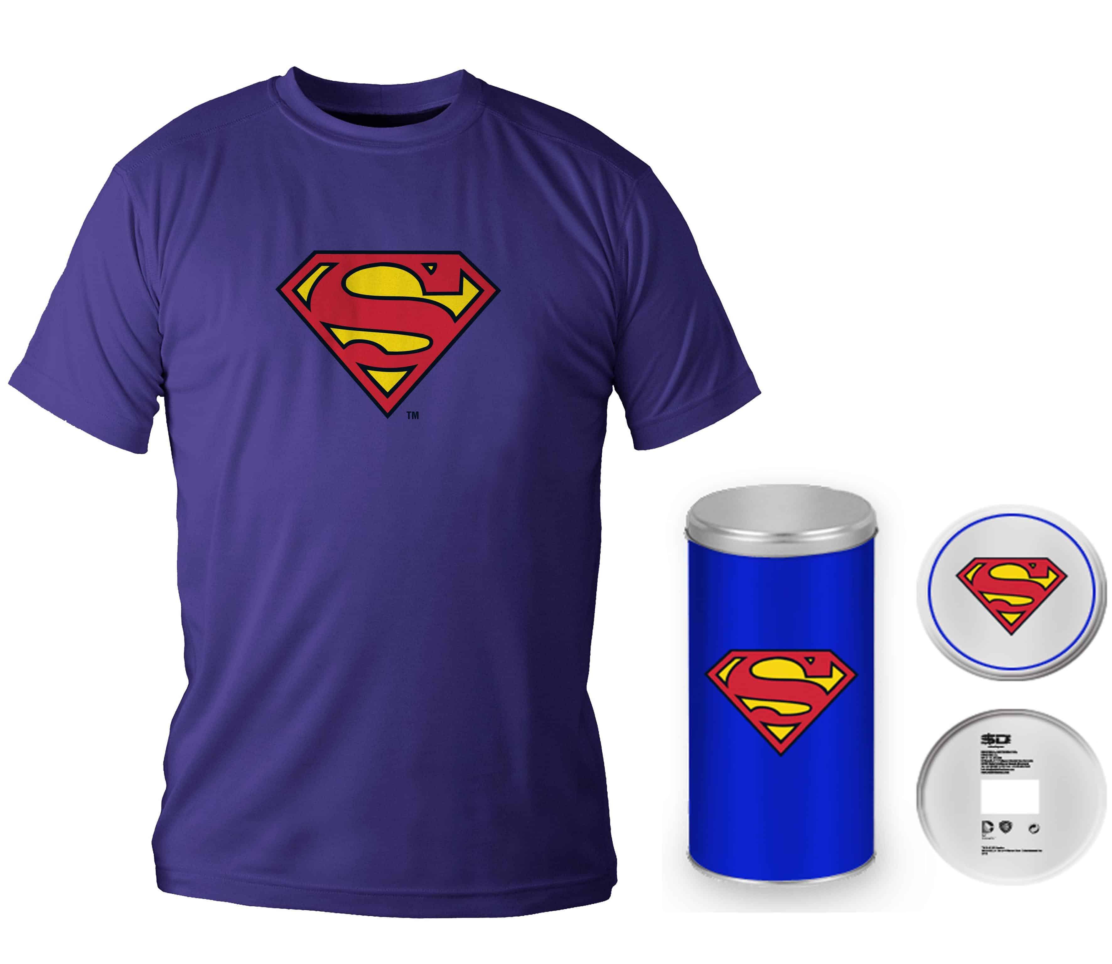 LOGO SUPERMAN CAMISETA AZUL CHICO T-L EDICION DELUXE DC COMICS