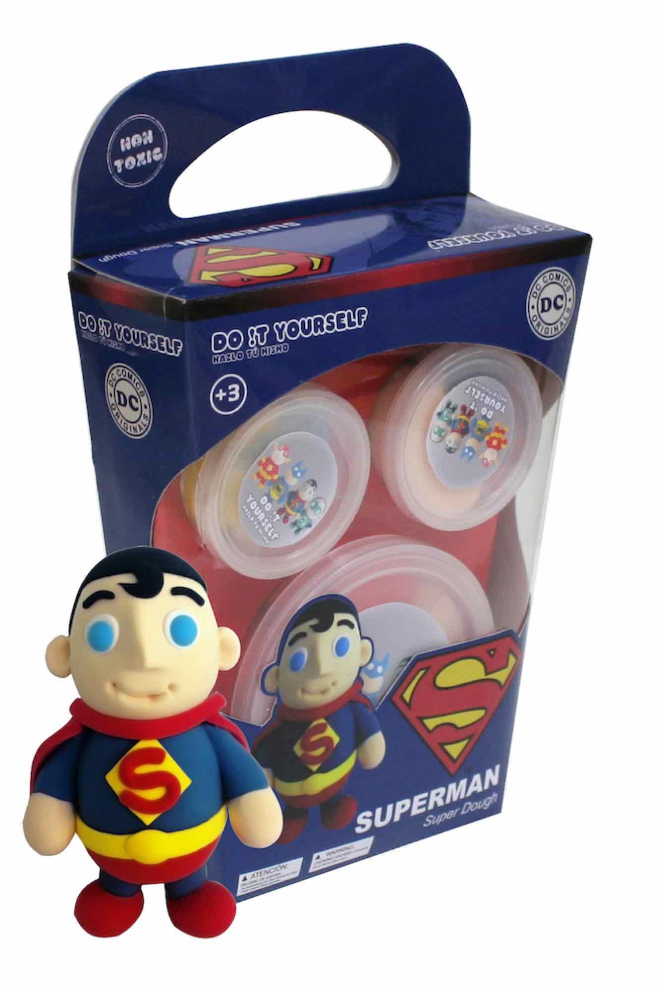 SUPERMAN SUPER DOUGH PERSONAJES UNIVERSO DC - DO IT YOURSELF