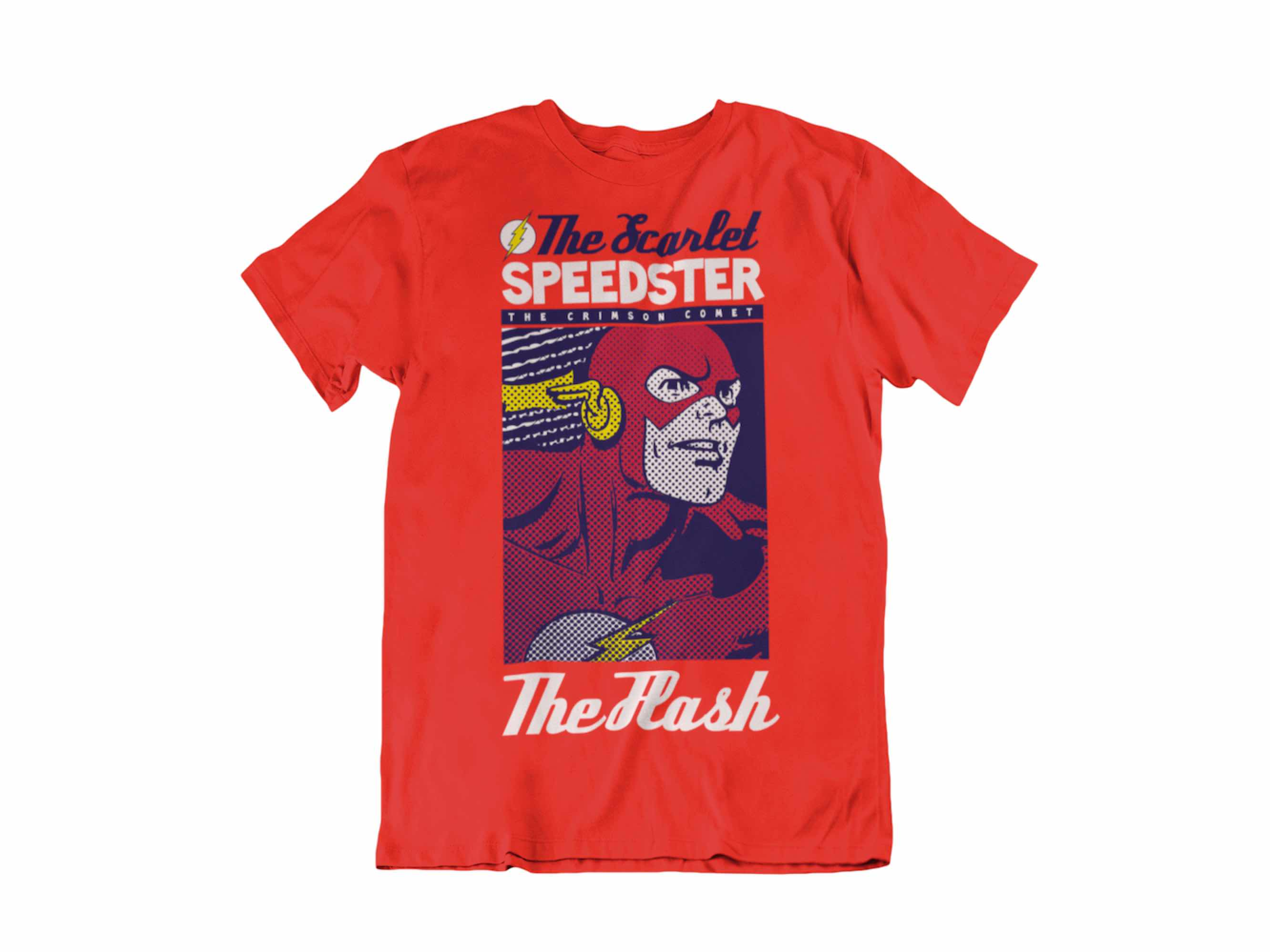 CAMISETA THE FLASH THE SCARLET SPEEDSTER UNISEX TALLA L