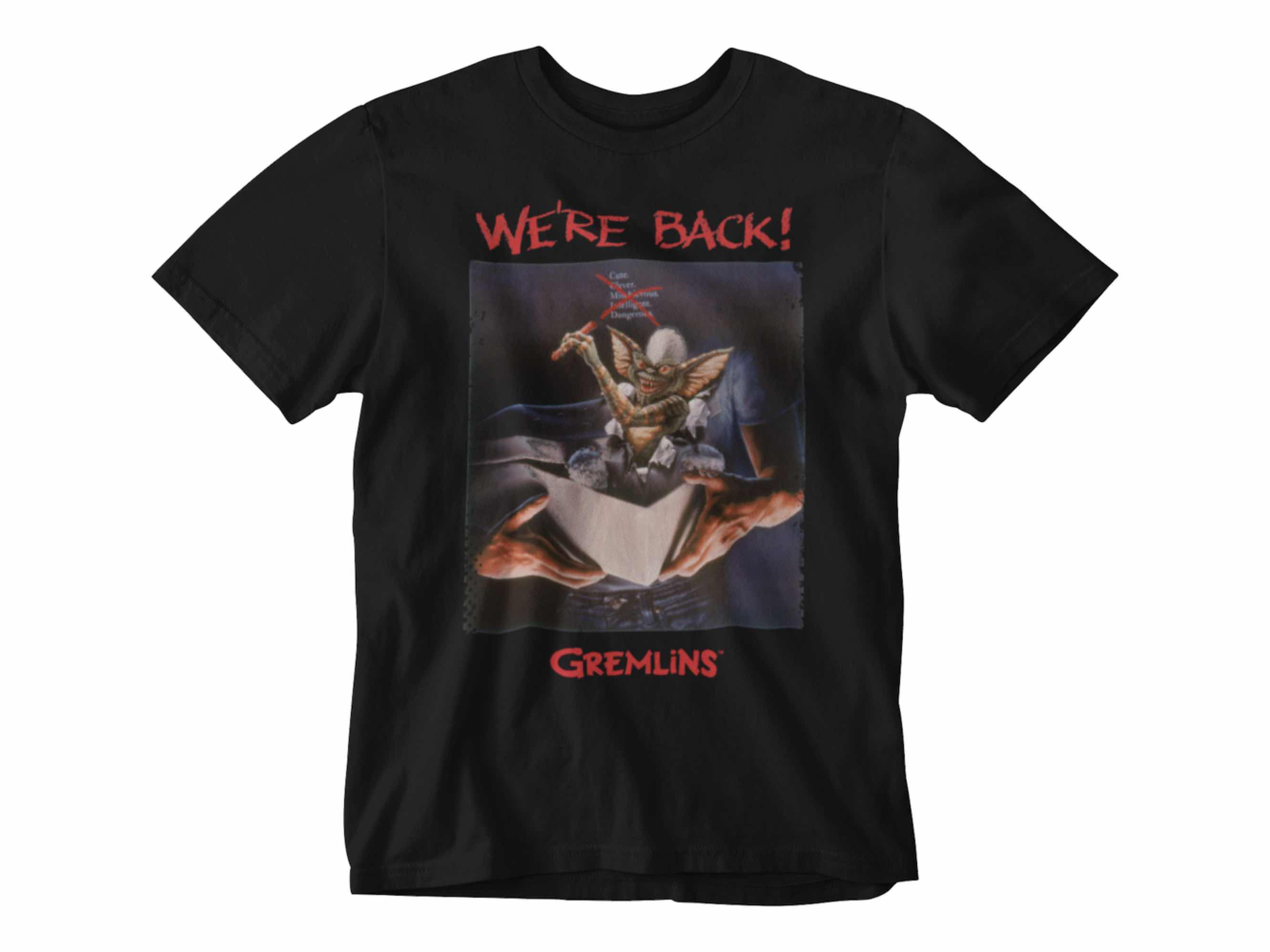 CAMISETA WE'RE BACK! UNISEX TALLA L GREMLINS