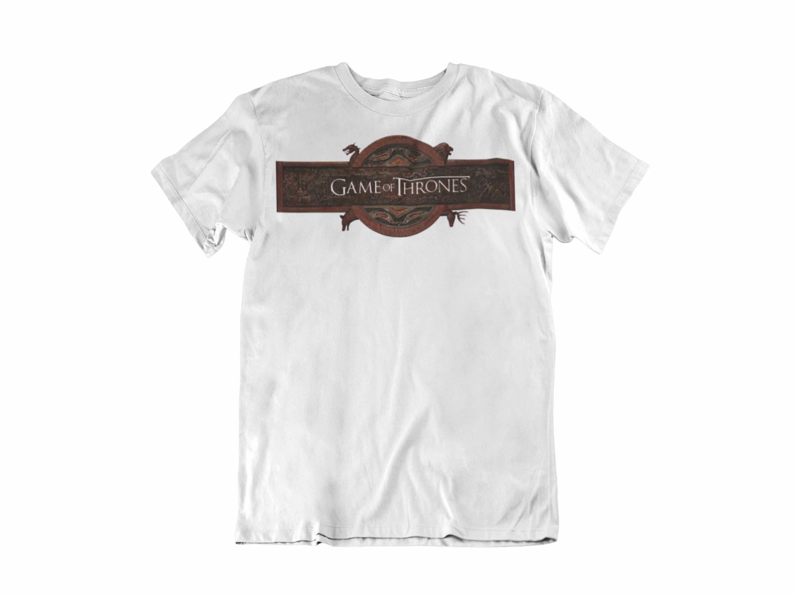 CAMISETA LOGO GAME OF THRONES INTRO DE LA SERIE UNISEX TALLA S