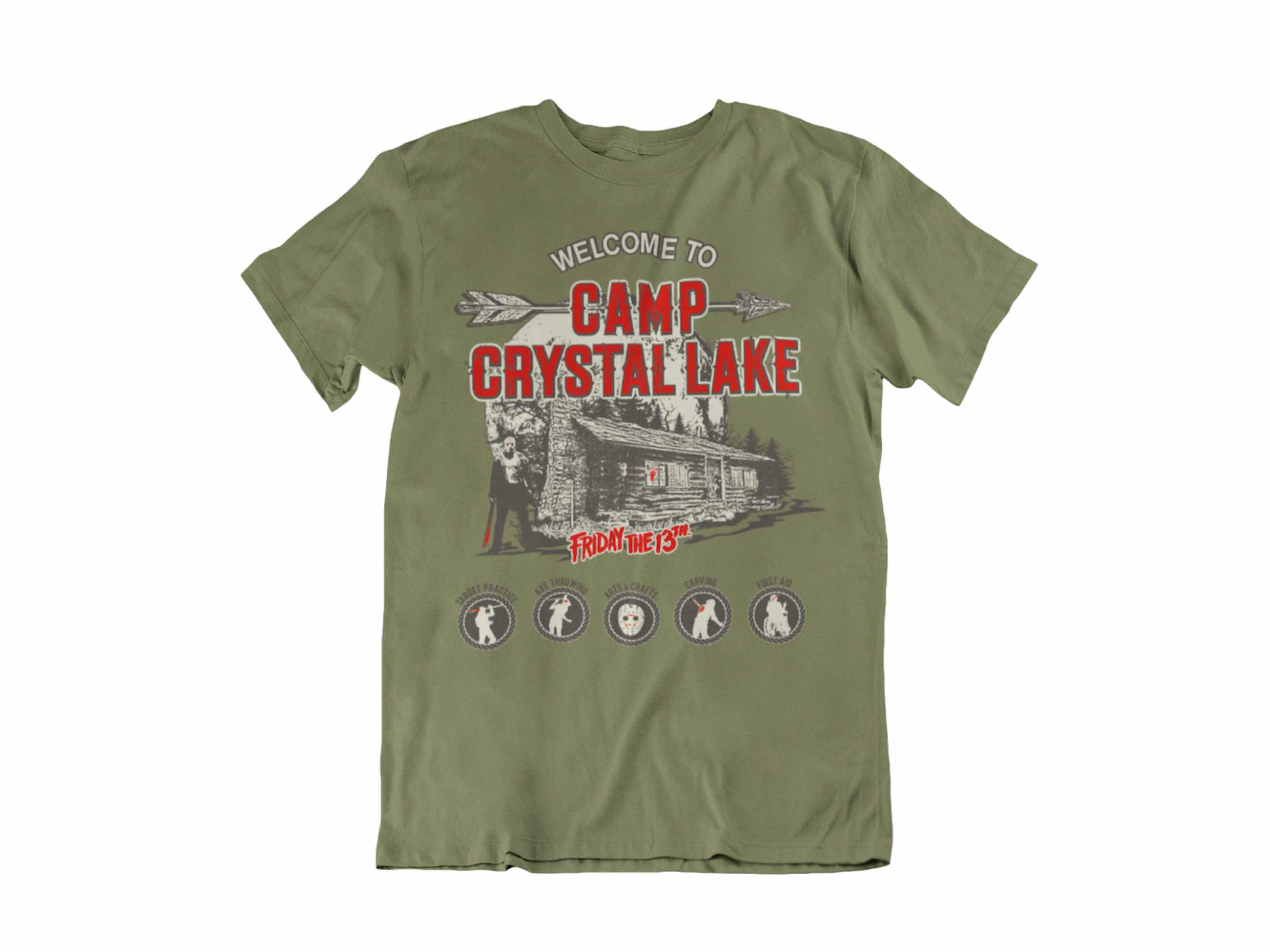 CAMISETA WELCOME TO CAMP CRYSTAL LAKE UNISEX TALLA 2XL VIERNES 13