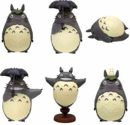 DISPLAY CAJA 6 FIGURAS TOTORO FIGURAS SO MANY POSES MI VECINO TOTORO STUDIO GHIBLI