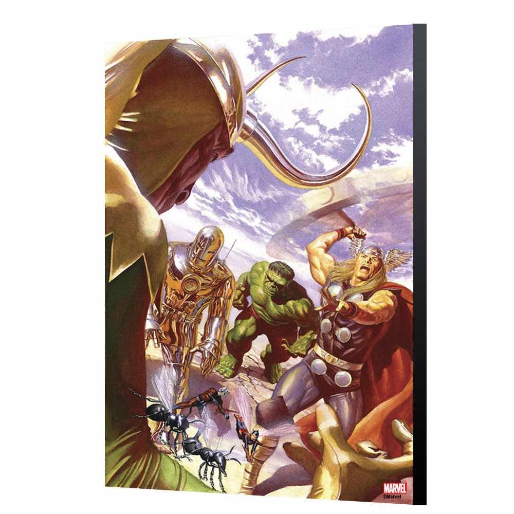 ALL-N, ALL-D AVENGERS 1 POR ALEX ROSS PANEL MADERA 24 X 36 CM AVENGERS COLLECTION MARVEL